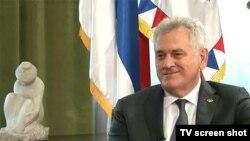 Tomislav Nikolić tokom intervjua