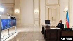 Prezident İ.Əliyev MDB Dövlət Başçıları Şurasının videokonfransında. 18 dekabr 2020