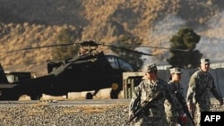 U.S. soldiers at Camp Salerno in Khost Province (file photo)