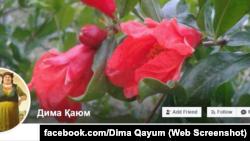 Дима Қаюмнинг Фейсбукдаги саҳифаси