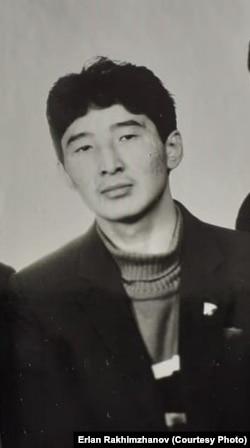 Ерлан Рахимжанов в 1986 году.