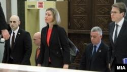 Përfaqësuesja e lartë e BE-së për politikë të jashtme dhe siguri, Federica Mogherini në Parlamentin e Maqedonisë, mars 2017