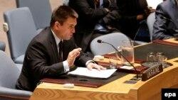 Павло Клімкін виступає на засіданні Ради безпеки ООН, фото архівне