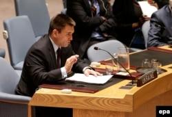 Павел Климкин на заседании Совета безопасности ООН, 17 июля 2015 года