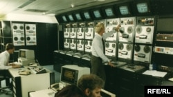 The master control room at the Munich headquarters in the 1980s.