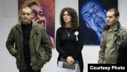 Изложба на Гоце и Владимир Илиевски, млади уметници од Македонија.