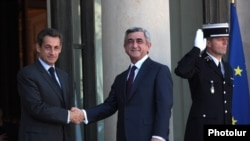 France -- French President Nicolas Sarkozy meets his Armenian counterpart Serzh Sarkissian, Paris, France, 28Sep2011