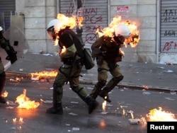 Protesti protiv mera štednje u Atini, 20. oktobar 2011.