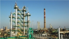 An oil refinery in Ferghana