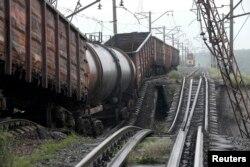 Підірваний залізничний міст, 7 липня 2014 року