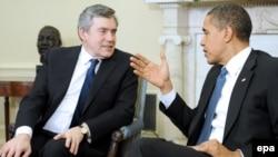 باراک اوباما و گردون براون