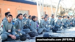 Afghan National Police training in Kandahar.
