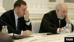Олег Дерипаска и Виктор Вексельберг в Кремле на встрече с президентом России