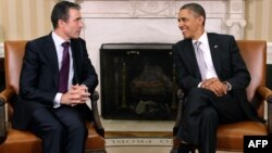 U.S. President Barack Obama (right) and NATO Secretary-General Anders Fogh Rasmussen at the White House in November