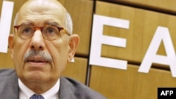 IAEA chief Muhammad el-Baradei at the UN atomic watchdog's weeklong autumn meeting in Vienna.