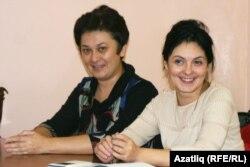 Флүзә Сәмигуллина (с) һәм Ләйсән Насыйрова