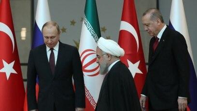 Vladimir Putin, Hassan Rouhani i Recep Tayyip Erdogan, Ankara