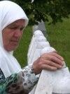 Bosnia and Herzegovina - Mejra Djogaz from Srebrenica visits the graves of her sons every day in Potocari Memorial Center. June 2021