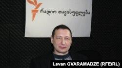 Boris Kagarlitsky în studioul Europei Libere la Tbilisi