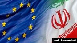 Եվրամիության և Իրանի դրոշները