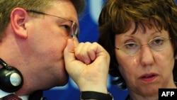 Catherine Ashton və Štefan Füle