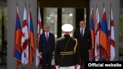 Georgia -- Presidents of Armenia and Georgia meet in Tbilisi, 18Jun2014