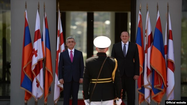 Georgia -- Presidents of Armenia and Georgia meet in Tbilisi, 18Jun2014