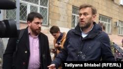 Леонид Волков һәм Алексей Навальный Новосибирскида