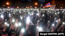 Protest pristalica opozicije u Jerevanu 2. maja