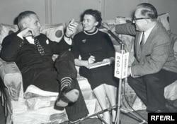 Композитор Вернон Дюк (Владимир Дукельский) дает интервью Виктории Семеновой и Михаилу Корякову. Мюнхен, 1955 год