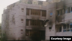 Naqeebullah Saifi ruined apartment in Kandahar's Bacha Khan Colony.