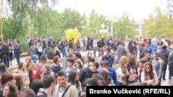 Protest studenata u Kragujevcu