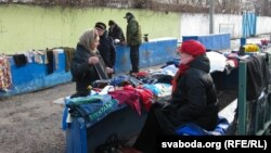 A market in Homyel, Belarus