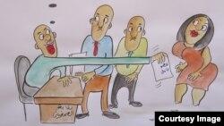 Hamoudi Adhabyň çeken karikaturasy
