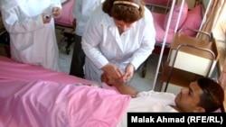 في احد مستشفيات بغداد