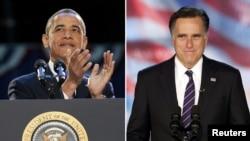 Barack Obama (majtas) dhe Mitt Romney