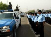 Iraqi police on parade in Karbala in October 2006