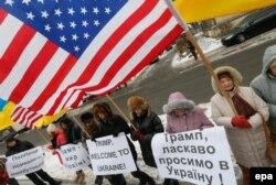Акція біля посольства США в Україні. Київ, 21 січня 2017 року