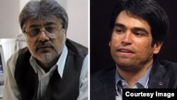 Ehsan Mazandarani (right), editor in chief of the Iranian daily Farhikhtegan, got seven years, while the fate of Issa Saharkhiz (left) remains unclear.