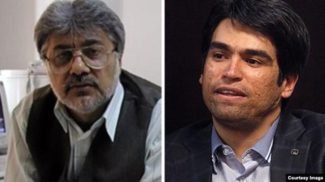 Ehsan Mazandarani (right) and Issa Saharkhiz (composite photo)