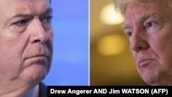 دونالد ترامپ رییس جمهوری آمریکا و جیمز کومی (سمت چپ) رییس پیشین افبیآی