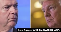 Бывший директор ФБР Джеймс Коми и Дональд Трамп. Увольнение Трампом Коми дало повод для обвинения президента в препятствии осуществлению правосудия