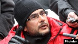 Andreas Ghukasian, the leader of the Rise Up, Armenia civic movement is among those who have been detained. (file photo)