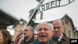 La ceremoniile din 2015 la fostul lagăr de concentrare Auschwitz