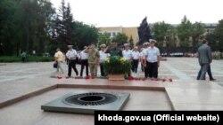 Пограничники Херсонского отряда на торжественных мероприятиях, посвященных Дню ВМС Украины, Николаев
