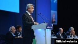 Իսպանիա - Հայաստանի նախագահը ելույթ է ունենում ԵԺԿ համագումարում, Մադրիդ, 21-ը հոկտեմբերի, 2015թ․