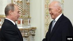 Rusiya baş naziri ilə görüşən 87 yaşlı Li Kuan Yu