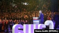 Saša Janković, nezavisni predsjednički kandidat na predizbornom skupu u Beogradu 19. februara 2017.