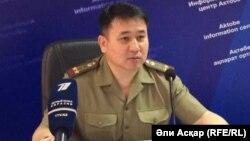 Бауыржан Сыздықов, Ақтөбе облыстық төтенше жағдайлар департаментінің басшысы. Ақтөбе, 25 шілде 2016 жыл.