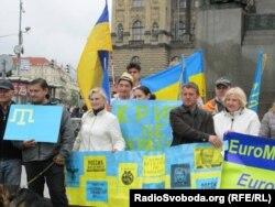 Прага, май 2014 года. Акция украинцев, живущих в Чехии, в поддержку крымских татар